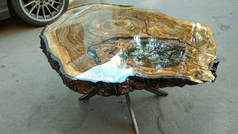Журнальный столик из спила дерева – купить на Ярмарке Мастеров – GX79LRU   Столы, Москва