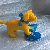 Куклы и игрушки ручной работы. Ярмарка Мастеров - ручная работа Рождественский щенок. Handmade.