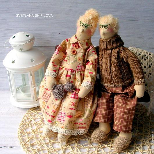 Куклы Тильды ручной работы. Ярмарка Мастеров - ручная работа. Купить Семейная пара Дед и Бабушка. Handmade. Семейный очаг