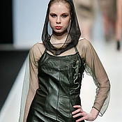 """Одежда ручной работы. Ярмарка Мастеров - ручная работа 3D Платье из натуральной кожи """"Ящерка"""". Handmade."""