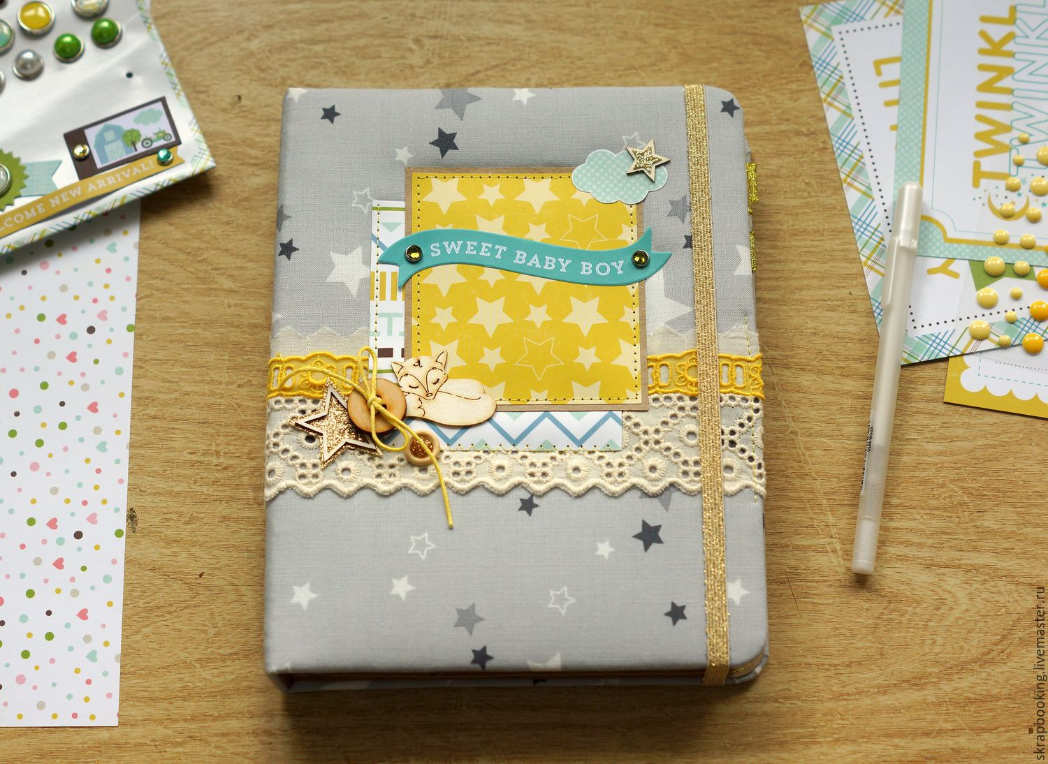Star mother's diary for a boy, Scrapbooking Workshop Living History