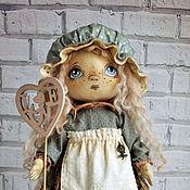Куклы и игрушки ручной работы. Ярмарка Мастеров - ручная работа Кукла текстильная Интерьерная Авторская Голубой Горошек. Handmade.