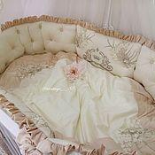 Работы для детей, ручной работы. Ярмарка Мастеров - ручная работа Бортики в кроватку. Handmade.