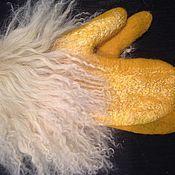 """Аксессуары ручной работы. Ярмарка Мастеров - ручная работа Варежки """"Мой любимый желтый цвет"""". Handmade."""