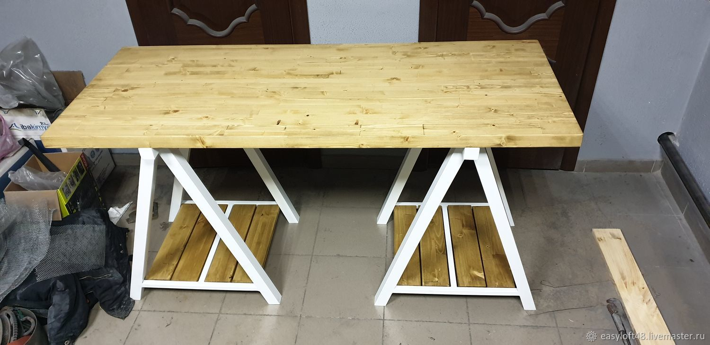Стол в стиле лофт обеденный, Столы, Липецк, Фото №1