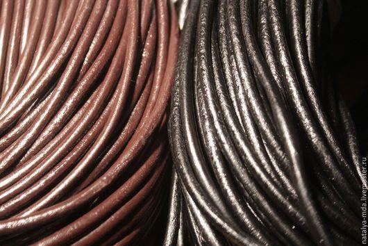 Для украшений ручной работы. Ярмарка Мастеров - ручная работа. Купить Шнур кожаный 4мм (2 цвета). Handmade. Шнур