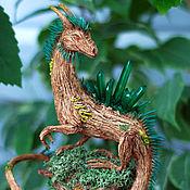Для дома и интерьера ручной работы. Ярмарка Мастеров - ручная работа Гордегрид-Страж Изумрудного Леса(дракон,природа,лес,полимерная глина). Handmade.