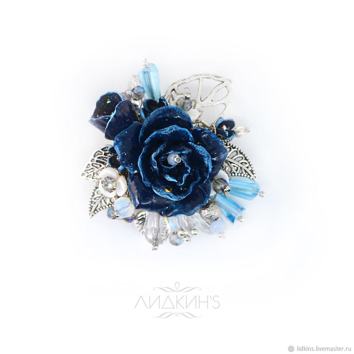 Brooch blue-blue 'Laila', Brooches, Sestroretsk,  Фото №1