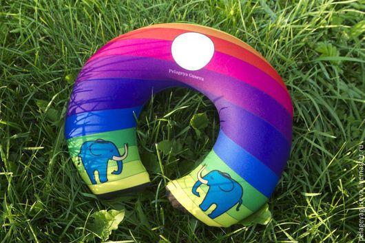 """Текстиль, ковры ручной работы. Ярмарка Мастеров - ручная работа. Купить Подушка """"Слоны"""". Handmade. Разноцветный, подушка декоративная"""