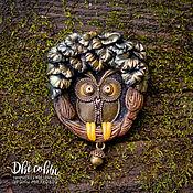 Украшения handmade. Livemaster - original item Brooch-pin: OWL. Handmade.
