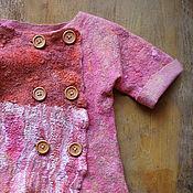 """Работы для детей, ручной работы. Ярмарка Мастеров - ручная работа Валяный жакет для девочки """"Малинка"""". Handmade."""