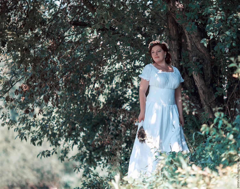 Фото нимфы в белом платье 10 фотография