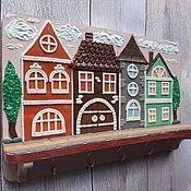 Для дома и интерьера handmade. Livemaster - original item The housekeeper wall: Housekeeper Beige City. Wall housekeeper. Handmade.