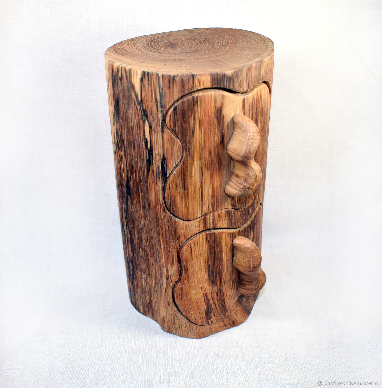 Mini chest of drawers made of wood ' Old oak', Mini Dressers, Domodedovo,  Фото №1