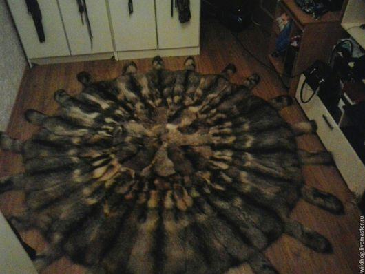 Текстиль, ковры ручной работы. Ярмарка Мастеров - ручная работа. Купить Ковер из меха енота. Handmade. Ковер, ковер из меха