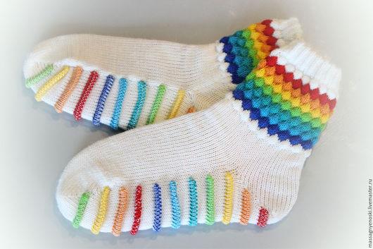Носки, Чулки ручной работы. Ярмарка Мастеров - ручная работа. Купить Носки с массажной подошвой. Handmade. Комбинированный, носки женские