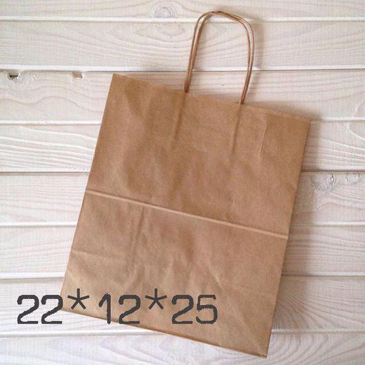 Упаковка ручной работы. Ярмарка Мастеров - ручная работа. Купить Крафт пакет 22*12*25 (крафт/белый!). Handmade. Пакет, пакет подарочный
