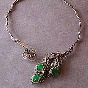 Украшения handmade. Livemaster - original item Necklace with emeralds. Handmade.