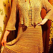 Одежда ручной работы. Ярмарка Мастеров - ручная работа Золотистый костюм тройка. Handmade.