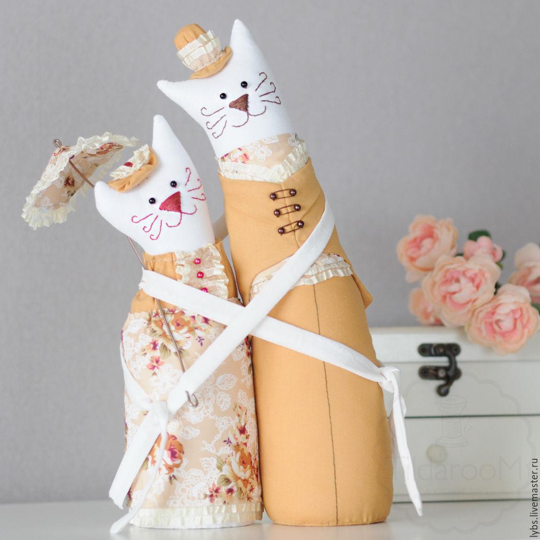 Кукла тильда коты обнимашки 152