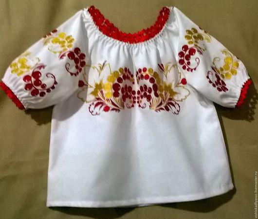 Одежда для девочек, ручной работы. Ярмарка Мастеров - ручная работа. Купить Детская вышиванка ДР1-033. Handmade. Белый