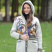 Одежда ручной работы. Ярмарка Мастеров - ручная работа Пальто вязаное 16wj01. Handmade.