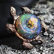 """Украшения ручной работы. Ярмарка Мастеров - ручная работа Кулон """"Путь среди звезд"""" из серии """"Морская черепаха"""". Handmade."""