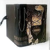 """Сувениры и подарки ручной работы. Ярмарка Мастеров - ручная работа Ежедневник мужской кожаный именной """"Хирургия"""" натуральная кожа. Handmade."""
