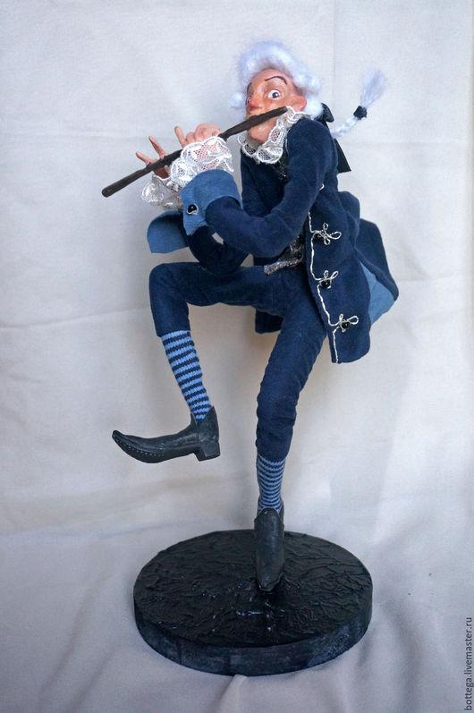 Коллекционные куклы ручной работы. Ярмарка Мастеров - ручная работа. Купить Придворный музыкант. Handmade. Тёмно-синий, придворный, текстиль