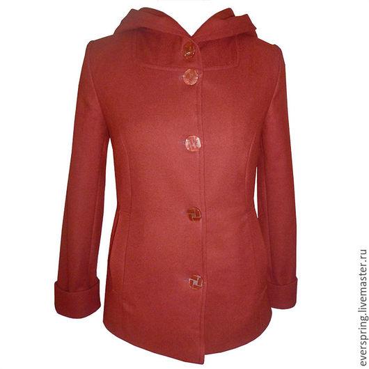пальто, демисезонное пальто, короткое пальто, коралловое пальто, пальто на заказ, пальто из шерсти, пальто с капюшоном,  классическое пальто, тёплое пальто, сшить пальто.