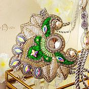 Украшения handmade. Livemaster - original item Necklace Green East. Bead embroidery. beaded jewelry.. Handmade.