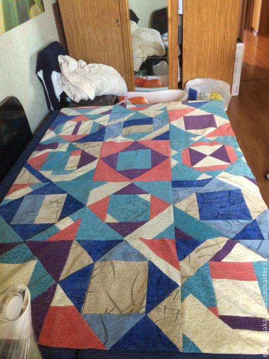 Текстиль, ковры ручной работы. Ярмарка Мастеров - ручная работа. Купить лоскутное покрывало. Handmade. Лоскутное покрывало, Геометрический рисунок