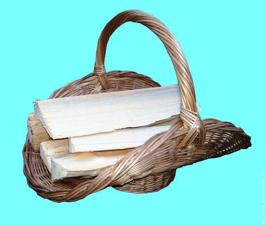 Экстерьер и дача ручной работы. Ярмарка Мастеров - ручная работа. Купить Плетеная корзина для дров Дровница. Handmade. Бежевый, дровница