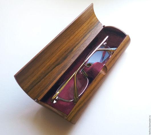 Очки ручной работы. Ярмарка Мастеров - ручная работа. Купить футляр для очков. Handmade. Коричневый, очки, сувенир, лак глянцевый
