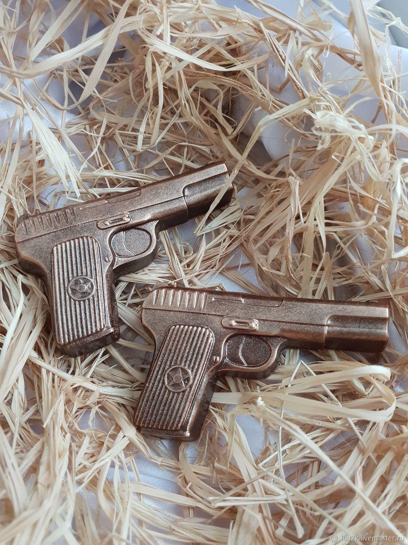 Мыло пистолет. пистолет мыло. подарки на 23 февраля, Мыло, Москва,  Фото №1