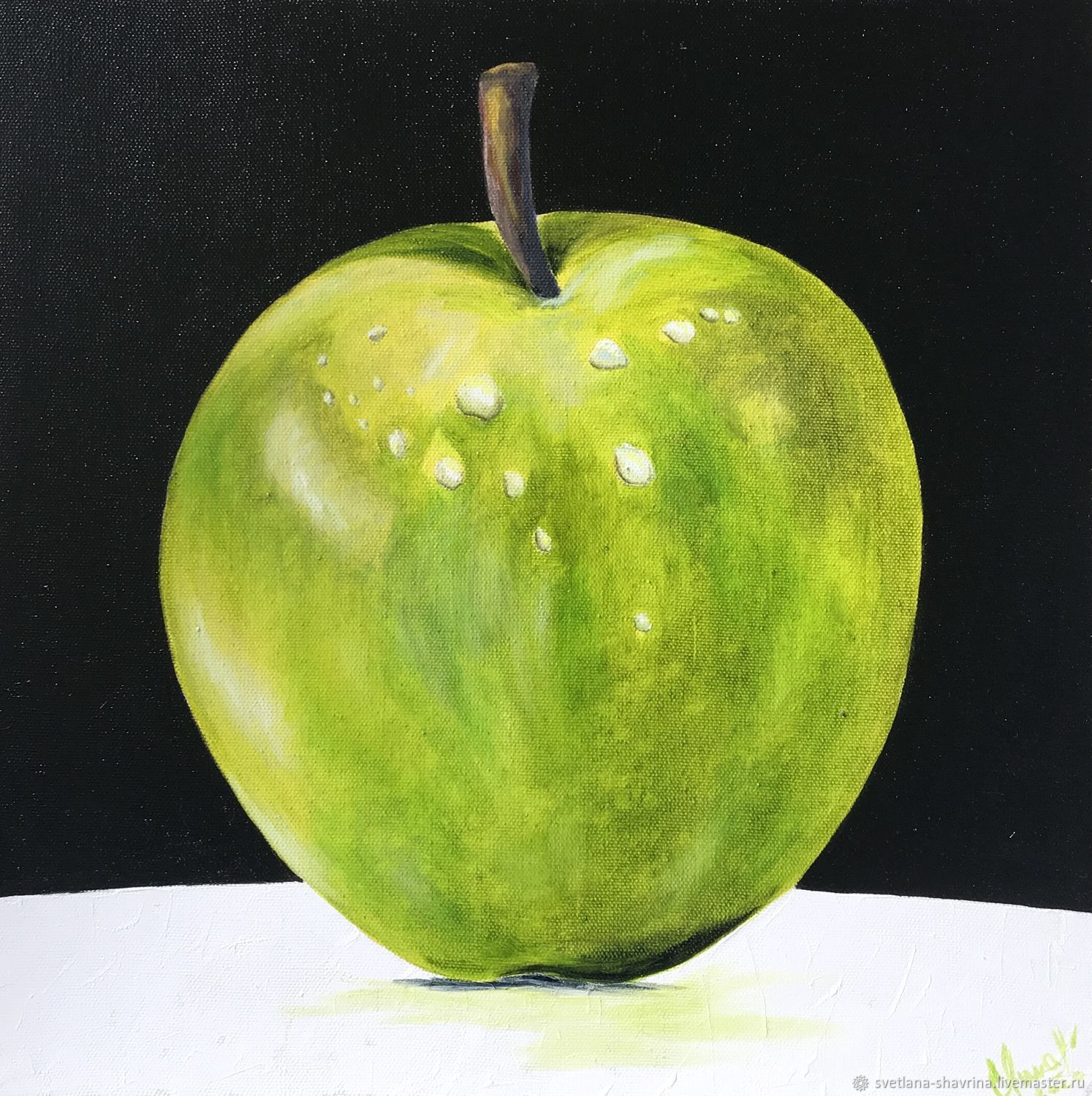 Oil painting: APPLE, m / x, 40h40, pop art, original, Pictures, Moscow,  Фото №1