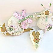 Куклы и игрушки ручной работы. Ярмарка Мастеров - ручная работа Набор игрушек в стиле Тильда Весенний нежный. Handmade.
