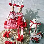 Куклы и игрушки ручной работы. Ярмарка Мастеров - ручная работа Олени влюбленные новогодние 2. Handmade.