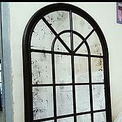 Для дома и интерьера ручной работы. Ярмарка Мастеров - ручная работа Состаренное зеркало-окно в стиле Лофт ручной работы. Handmade.