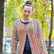 """Одежда ручной работы. Ярмарка Мастеров - ручная работа Кардиган """"Краски Холи"""". Handmade."""