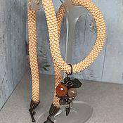 Украшения handmade. Livemaster - original item Necklace: Sea Buckthorn autumn. Handmade.
