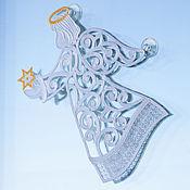 Для дома и интерьера ручной работы. Ярмарка Мастеров - ручная работа Украшение на окно Ангел большой.. Handmade.