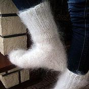 Аксессуары handmade. Livemaster - original item White feather socks. Handmade.