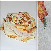 Аксессуары ручной работы. Ярмарка Мастеров - ручная работа шарф валяный Бабушкин сад. Handmade.