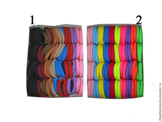 Другие виды рукоделия ручной работы. Ярмарка Мастеров - ручная работа. Купить Резинки для волос в упаковках разноцветные (80шт) основа. Handmade.