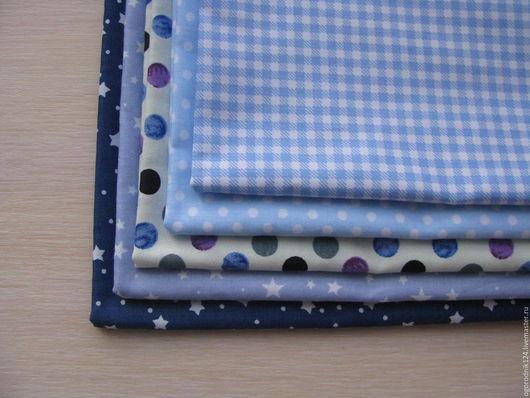 Шитье ручной работы. Ярмарка Мастеров - ручная работа. Купить Набор ткани №1. Handmade. Тёмно-синий, хлопок, тильда