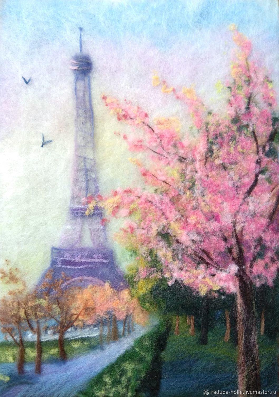 "Картина ""Весенний Париж"", Картины, Холм,  Фото №1"