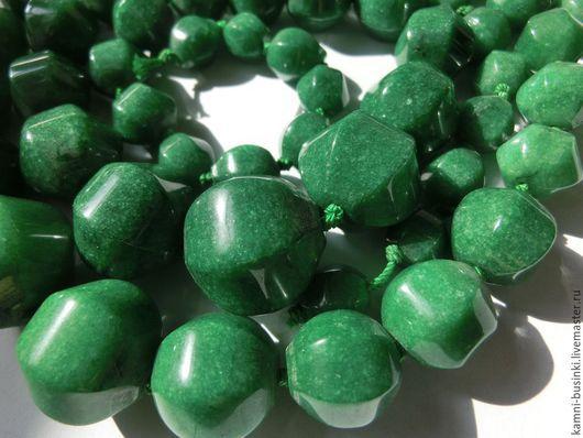 Нефрит бусины тыквы 8-20 мм синий, зеленый. Kamni-businki для украшений.