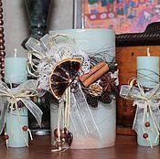 """Свадебный салон ручной работы. Ярмарка Мастеров - ручная работа Свадебные свечи """"Винтаж"""". Handmade."""