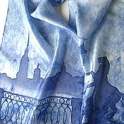 """Аксессуары ручной работы. Ярмарка Мастеров - ручная работа батик  """"Питерский шарфик"""" , шелковый. Handmade."""